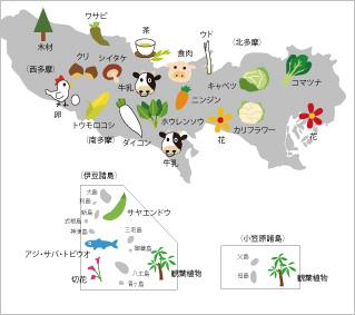 東京都内の野菜の栽培地域